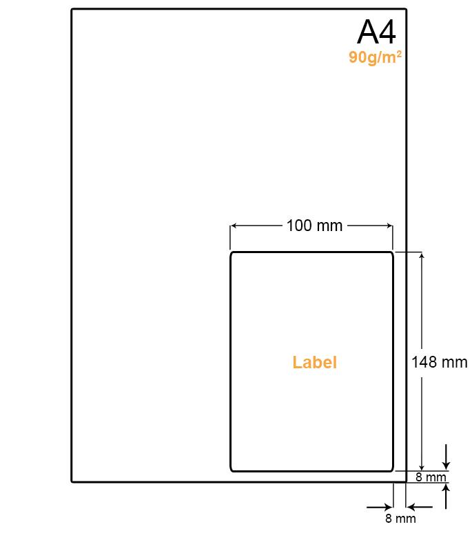 A4 Papier met PostNL pakket etiket (A6 formaat etiket) - WS4901LP