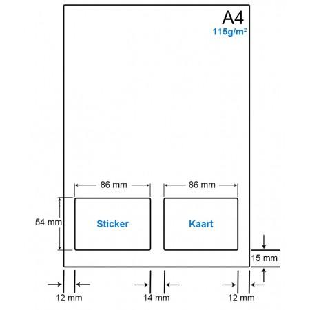 A4 Papier met 1 etiket en kaart - WS41151LVA