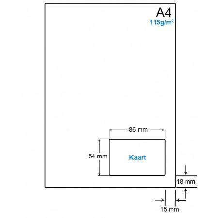 A4 Papier met 1 kaart - WS41151VA