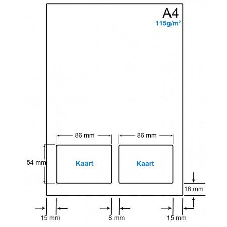 A4 Papier met 2 kaarten - WS41152VA