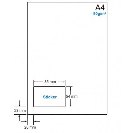 A4 Papier met 1 etiket - WS4901B