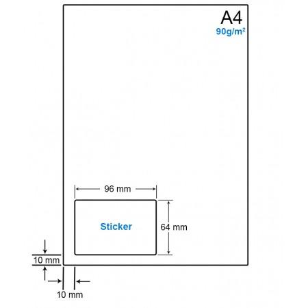 A4 Papier met etiket WS4901C