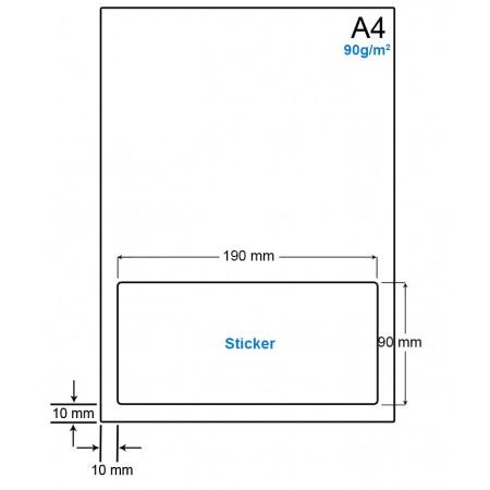 A4 Papier met 1 etiket - WS4901D
