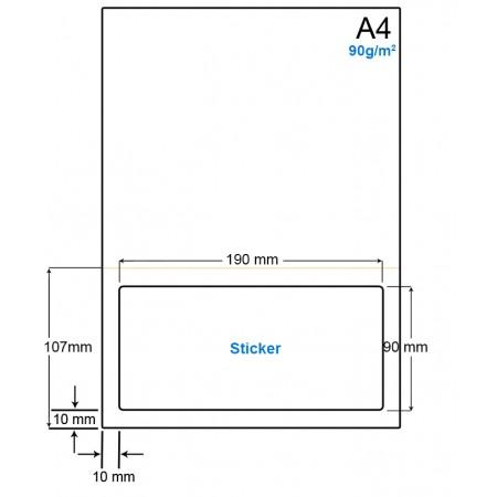 A4 Papier met 1 etiket - WS4901DP