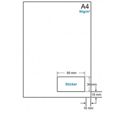 A4 Papier met 1 etiket - WS4901E