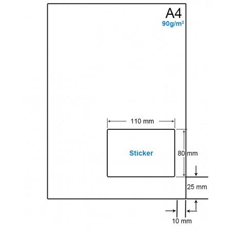 A4 Papier met 1 etiket - WS4901G