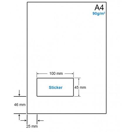 A4 Papier met 1 etiket - WS4901H