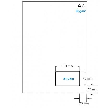 A4 Papier met 1 etiket - WS4901K