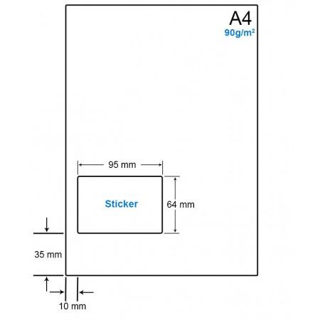 A4 Papier met 1 etiket - WS4901L