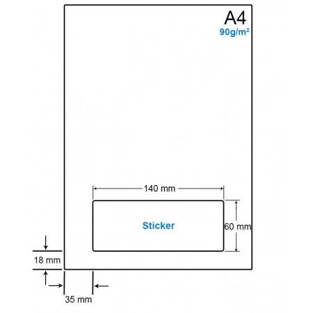 A4 Papier met 1 etiket - WS4901M