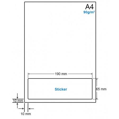 A4 Papier met 1 etiket - WS4901N