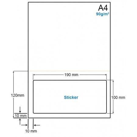 A4 Papier met 1 etiket - WS4901OP