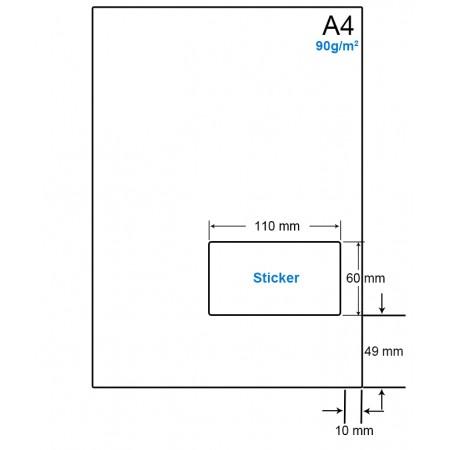 A4 Papier met 1 etiket - WS4901R