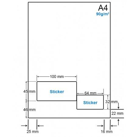 A4 Papier met 2 etiketten - WS4902B