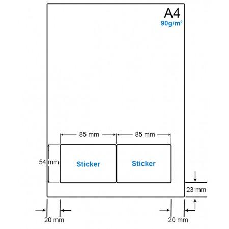 A4 Papier met 2 etiketten - WS4902C