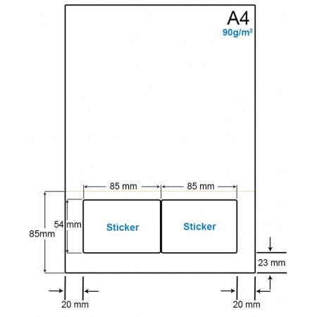 A4 Papier met 2 etiketten - WS4902CP