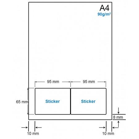 A4 Papier met 2 etiketten - WS4902E