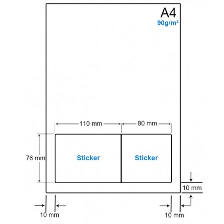 A4 Papier met 2 etiketten - WS4902F