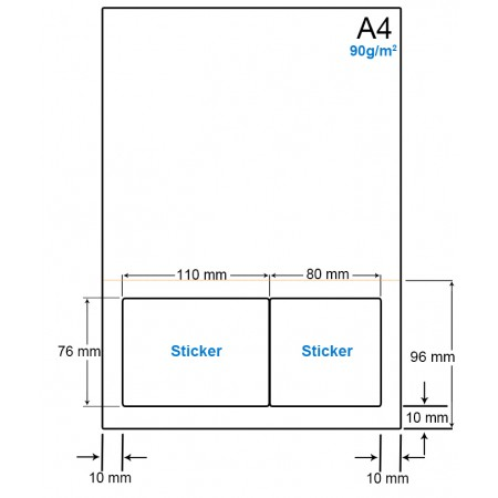 A4 Papier met 2 etiketten - WS4902FP