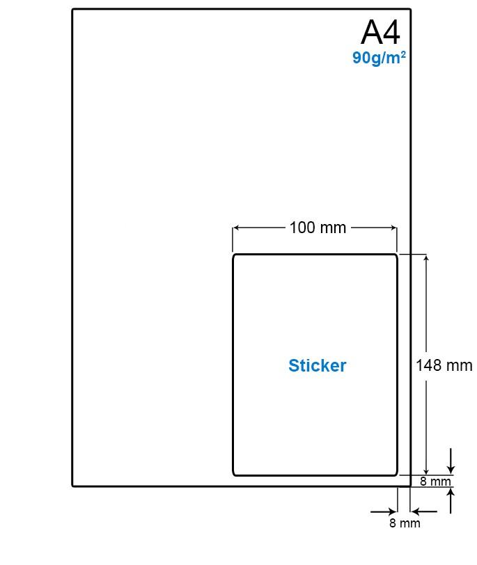 A4 Papier met PostNL pakket label (A6 formaat etiket) - WS4901LP