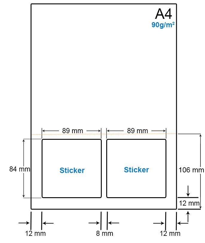 A4 Papier met 2 etiketten - WS4902AP